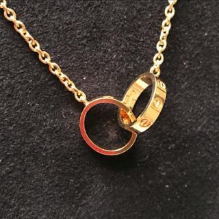 Cartier - 美品 カルティエ ラブネックレス 18K イエローゴールド