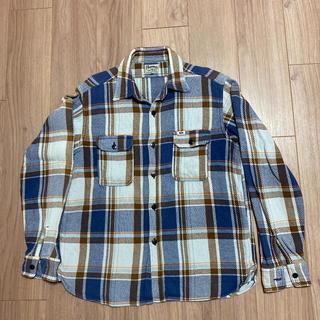 フェローズ(PHERROW'S)のフェローズ Pherrow's Lサイズ 青系チェックネルシャツ(シャツ)