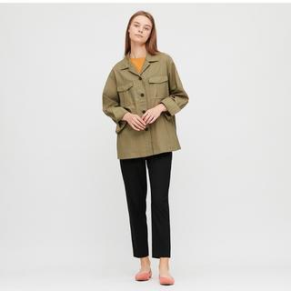 ユニクロ(UNIQLO)の【新品タグ付き】定価4389円UNIQLO リネンコットンシャツジャケット(ミリタリージャケット)
