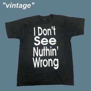 アメリヴィンテージ(Ameri VINTAGE)の【vintage】バックプリント有り☆USA製メッセージTシャツB0102(Tシャツ/カットソー(半袖/袖なし))