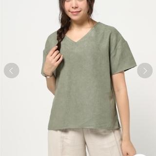 ディスコート(Discoat)のDiscoat parisien スエード調トップス Tシャツ ブラウス(シャツ/ブラウス(半袖/袖なし))
