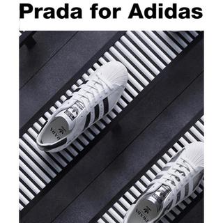 アディダス(adidas)の★ 27.5cm ★ PRADA プラダ アディダス 白 ホワイト US9.5(スニーカー)