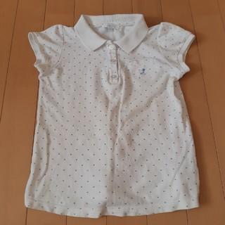 ジャカディ(Jacadi)のジャカディ ポロシャツ 白 水色水玉(Tシャツ/カットソー)