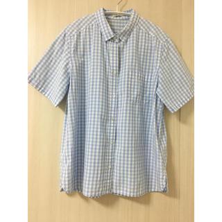 ジーユー(GU)のGU 半袖シャツ ギンガムチェックシャツ(シャツ/ブラウス(半袖/袖なし))
