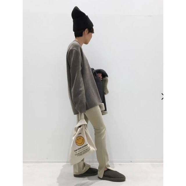 L'Appartement DEUXIEME CLASSE(アパルトモンドゥーズィエムクラス)の新品タグ付き☆スウェード素材GOOD GRIEF/Smile Tote Bag レディースのバッグ(トートバッグ)の商品写真