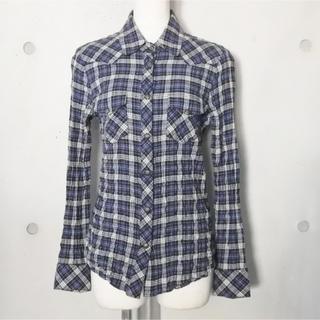 クロムハーツ(Chrome Hearts)のクロムハーツ レディース ウエスタンガーゼチェック シャツ クロスパッチ SM(シャツ/ブラウス(長袖/七分))