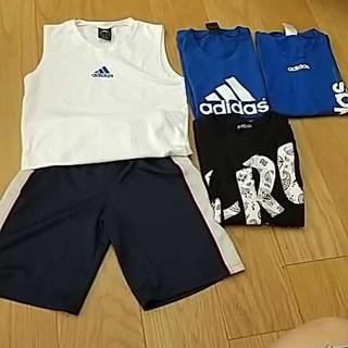 adidas - 男の子 Tシャツ ハーフパンツ 140 150