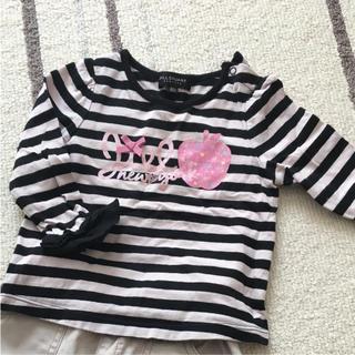 ジルスチュアートニューヨーク(JILLSTUART NEWYORK)のジルスチュアート 女の子ロンT80 値下げ(Tシャツ)