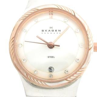 スカーゲン 腕時計 880SSSR レディース 白(腕時計)