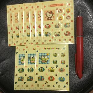 ハローキティ(ハローキティ)のサンリオ/キティー7枚・ケロケロケロッピ3枚/シール/10枚セット(その他)
