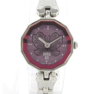 アナスイ(ANNA SUI)のアナスイ 腕時計美品  1N00-0MM0 パープル(腕時計)