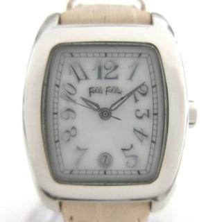 フォリフォリ(Folli Follie)のフォリフォリ 腕時計 WF5T080SZW 白(腕時計)