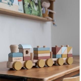 BorneLund - LITTLE DUTCH 木製トレインブロック