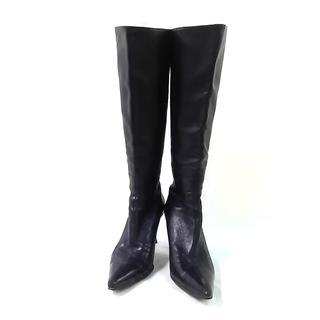 グッチ(Gucci)のグッチ ロングブーツ 6 B レディース 黒(ブーツ)