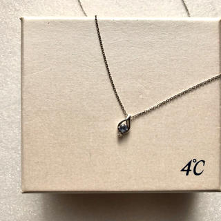 4℃ - 【❤︎クリーニング済❤︎K18❤︎】4℃タンザナイト×ダイヤモンド ネックレス