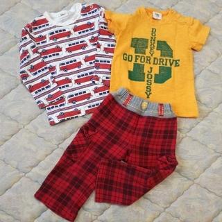 ドンキージョシー(Donkey Jossy)のDonkey Jossy 長袖 半袖 Tシャツ&おまけパンツ 3枚セット 90(その他)
