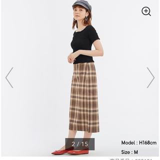 GU - GU チェックナロースカート Lサイズ