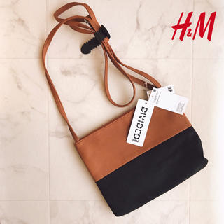 エイチアンドエム(H&M)の新品タグ H&M ミニ ショルダー バッグ サコッシュ フラット スエード 鞄(ショルダーバッグ)