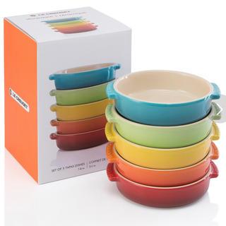 ルクルーゼ(LE CREUSET)のル・クルーゼ  タパスディッシュ レインボー14cm 5個セット グラタン皿(食器)
