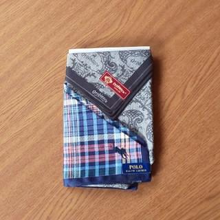 ポロラルフローレン(POLO RALPH LAUREN)のオロビアンコ・ラルフローレン  ハンカチ2枚セット(ハンカチ/ポケットチーフ)