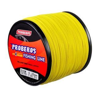 PEライン 高強度 PRO 1号 15lb/500m巻き カラー/イエロー 釣り(釣り糸/ライン)