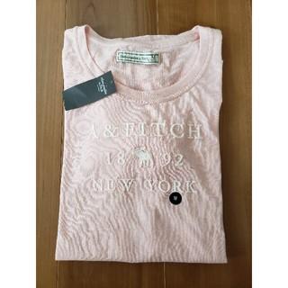 アバクロンビーアンドフィッチ(Abercrombie&Fitch)の☆新品タグ付☆アバクロ ロゴロンT ピンク Mサイズ(Tシャツ(長袖/七分))