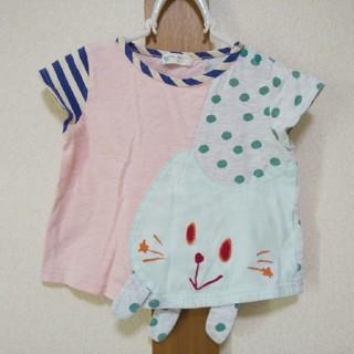 ナルミヤ インターナショナル(NARUMIYA INTERNATIONAL)のbaby cheer ネコカットソー 80サイズ ベイビーチアー(Tシャツ)