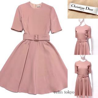 クリスチャンディオール(Christian Dior)の2018AW ディオール 美色ピンク フレアワンピース E2181(ひざ丈ワンピース)