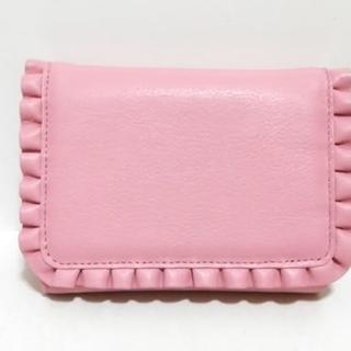 ウノカンダ 3つ折り財布美品  ピンク(財布)