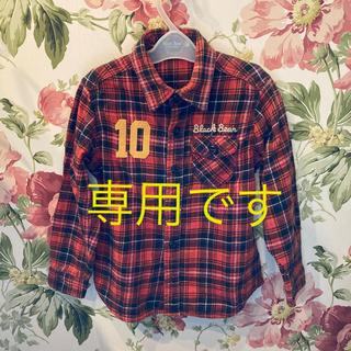 ミキハウス(mikihouse)の【専用】ミキハウス black bear 赤系ネルシャツ 110(ブラウス)