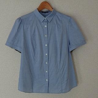 バーバリー(BURBERRY)のBURBERRY シャツ ブルー レディース LL 大きいサイズ(シャツ/ブラウス(半袖/袖なし))