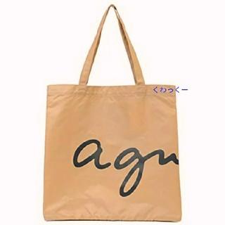 agnes b. - アニエス・ベー agnes b.   ロゴ トートバッグ エコバッグ ベージュ