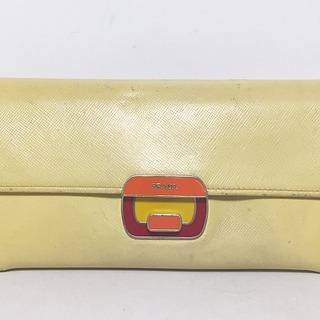 プラダ(PRADA)のPRADA(プラダ) 長財布 - レザー×金属素材(財布)