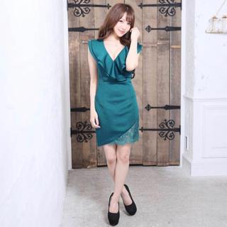 デイジーストア(dazzy store)のキャバクラ ドレス 青緑(ミニドレス)