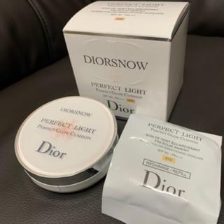 ディオール(Dior)のディオール スノーパーフェクトライトクッション010(ファンデーション)