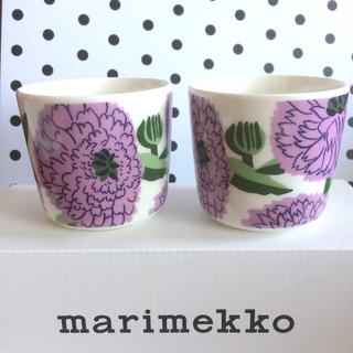 マリメッコ(marimekko)の♡マリメッコ  プリマヴェーラ ラテマグ カップ  ★ハンドタオル付き!!(グラス/カップ)