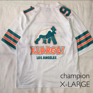 エクストララージ(XLARGE)のX-LARGE champion ゲームシャツ  メッシュ  カットソー(Tシャツ/カットソー(半袖/袖なし))