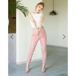 エイミーイストワール(eimy istoire)のdarich♡ダメージテーパードパンツ ピンク(カジュアルパンツ)