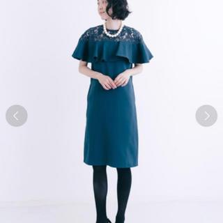 メルロー(merlot)のデコルテレースワンピース(ミディアムドレス)