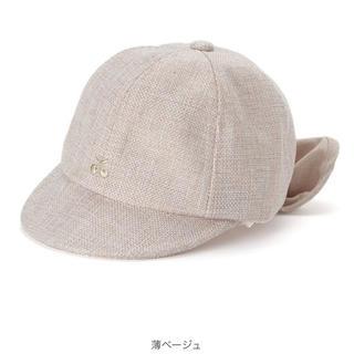 プティマイン(petit main)の美品 プティマイン チェリー 日よけリボンキャップ(帽子)