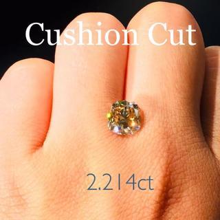 コニャックブラウンの虜…✨2.214ctダイヤモンド…✨クッションカット(リング(指輪))