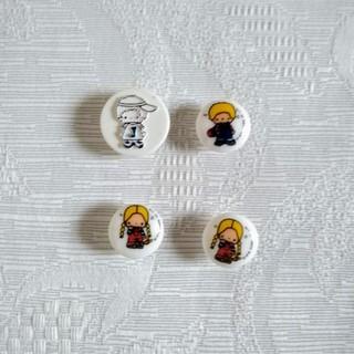 サンリオ(サンリオ)のパティ&ジミーのボタンとパーツ(その他)