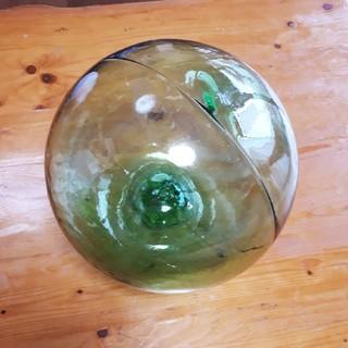 ガラス浮き玉 レトロ インテリア雑貨 置物 漁師(置物)