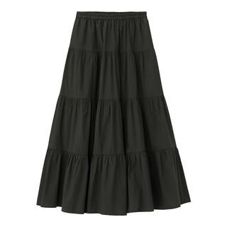 GU - GU ティアードフレアロングスカート ブラック 黒