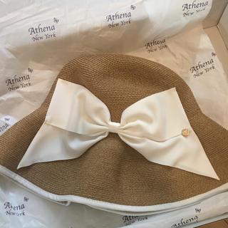 バーニーズニューヨーク(BARNEYS NEW YORK)の麦わら帽子 キンバリー ホワイト(麦わら帽子/ストローハット)