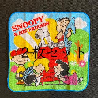 スヌーピー(SNOOPY)の【未使用】 スヌーピー プチタオル ハンカチ ×二枚セット(その他)