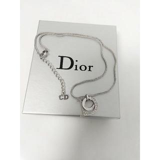 Christian Dior - クリスチャンディオール シルバーDロゴストーン付きネックレス No1051