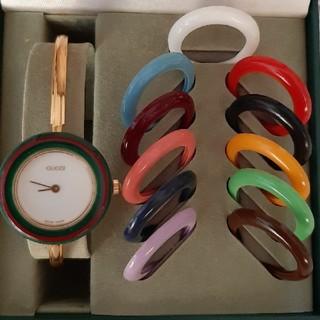 Gucci - 【美品】GUCCI チェンジベゼル 腕時計