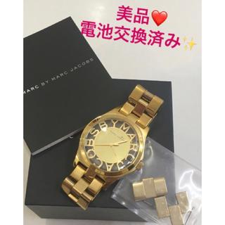 マークバイマークジェイコブス(MARC BY MARC JACOBS)の美品❤️マークジェイコブス 腕時計❤️スケルトン ゴールド(腕時計)