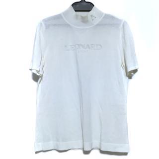 レオナール(LEONARD)のレオナール 半袖セーター サイズ40 M 白(ニット/セーター)